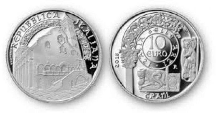 Cattedrale di Trani sulle monete d'argento