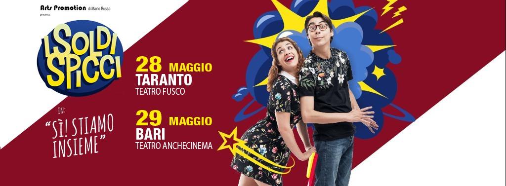 I Soldi Spicci a Taranto e a Bari il 28 e il 29 maggio