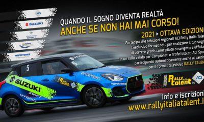 Il Rally Italia Talent 2021 sbarca in Puglia, la manifestazione è alla sua ottava edizione